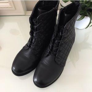 Shoedazzle ALEYA Black Combat Boot